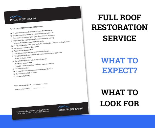 roof restoration service